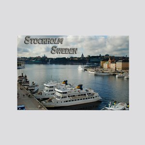 Stockholm Sweden Harbor Travel Magnets