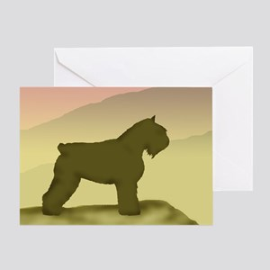 Hazy Sunrise Bouvier Greeting Card
