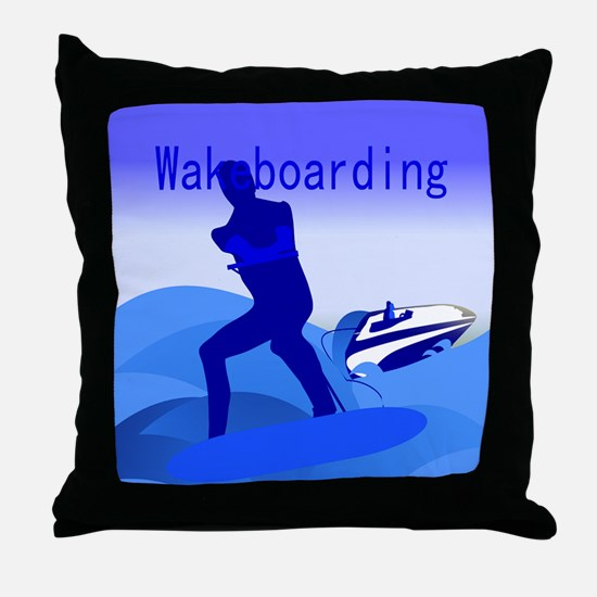 Wakeboarding Throw Pillow