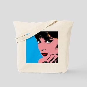 Audrey Hepburn Blue Dots Tote Bag