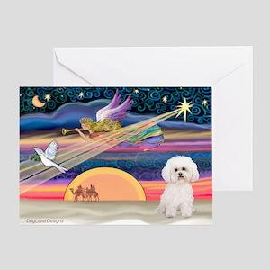 Xmas Star & Bichon Greeting Card