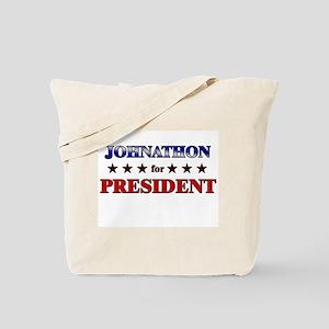 JOHNATHON for president Tote Bag