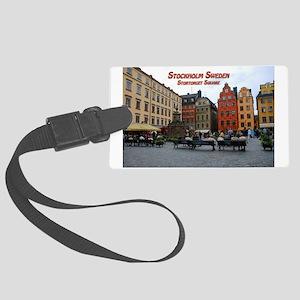 Stortorget Square - Stockholm Sweden Luggage Tag