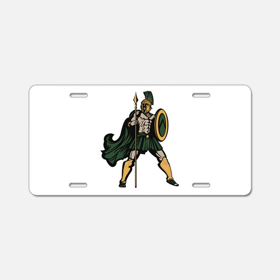 Spartan Warrior Aluminum License Plate