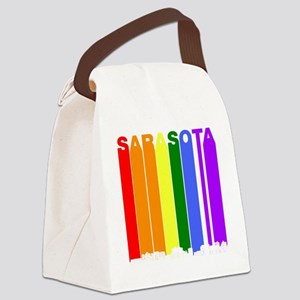 Sarasota Florida Gay Pride Rainbow Skyline Canvas