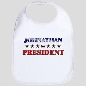 JOHNATHAN for president Bib