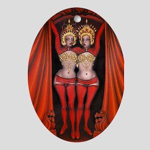 Siamese Twins - Oval Ornament