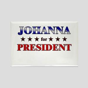 JOHANNA for president Rectangle Magnet