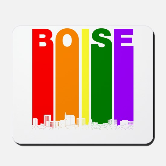Boise Idaho Gay Pride Rainbow Skyline Mousepad