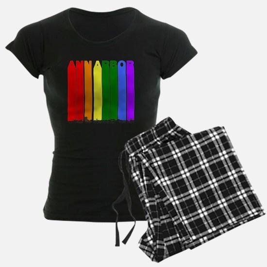 Ann Arbor Michigan Gay Pride Rainbow Skyline Pajam