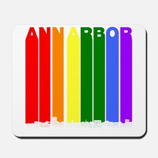 Ann Arbor Michigan Gay Pride Rainbow Skyline Mouse