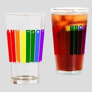 Ann Arbor Michigan Gay Pride Rainbow Skyline Drink