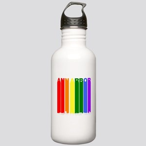 Ann Arbor Michigan Gay Pride Rainbow Skyline Water