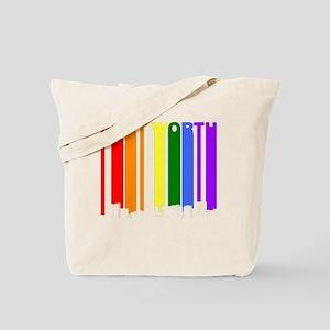 Fort Worth Texas Gay Pride Rainbow Skyline Tote Ba
