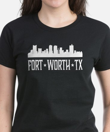 Fort Worth, Texas Skyline Women's Dark T-Shirt