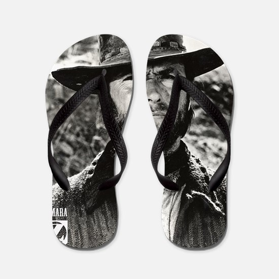 Clint Eastwood Black and White Flip Flops