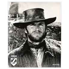 Clint Eastwood Black and White Wall Art Canvas Art