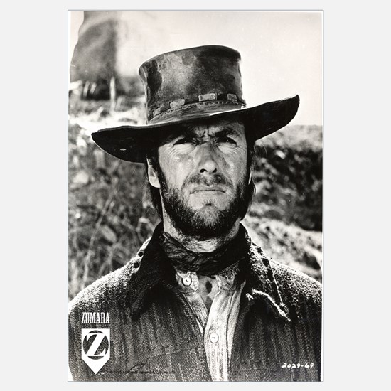 Clint Eastwood Black and White Wall Art