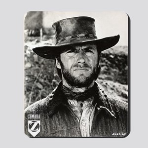 Clint Eastwood Black and White Mousepad