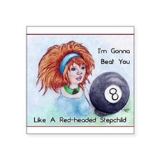 8 Ball Billiards Stepchild Sticker