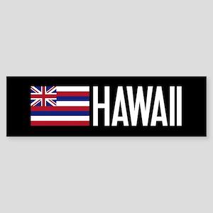 Hawaii: Hawaiin Flag & Hawaii Bumper Sticker