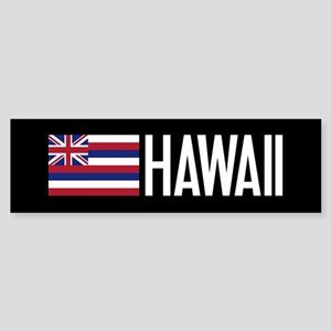Hawaii: Hawaiin Flag & Hawaii Bumper Sticker