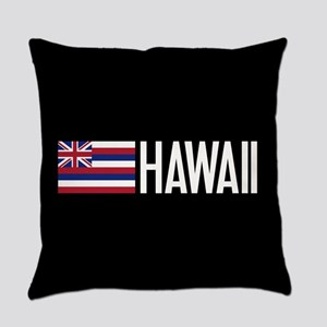 Hawaii: Hawaiin Flag & Hawaii Everyday Pillow