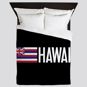 Hawaii: Hawaiin Flag & Hawaii Queen Duvet