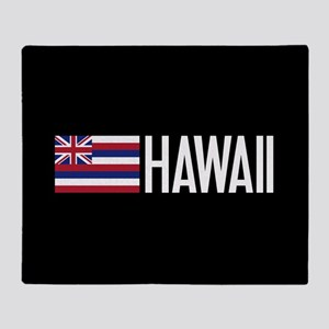 Hawaii: Hawaiin Flag & Hawaii Throw Blanket