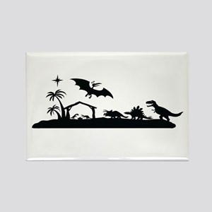 Dinosaur nativity christmas Magnets