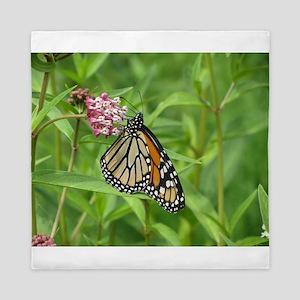 Monarch on Milkweed Queen Duvet