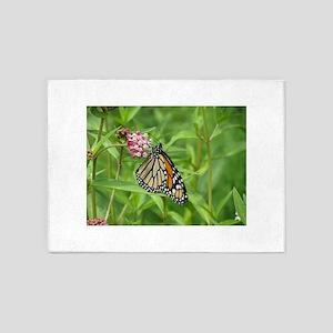 Monarch on Milkweed 5'x7'Area Rug