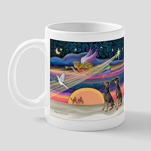 XmasStar/2 Dobies Mug