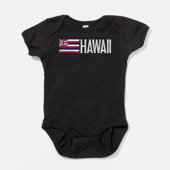 Hawaii: Hawaiin Flag & Hawaii Baby Bodysuit