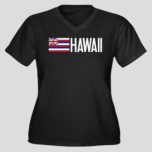 Hawaii: Hawaiin Flag & Hawaii Plus Size T-Shirt
