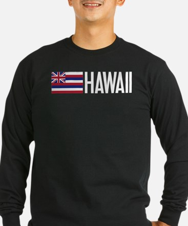 Hawaii: Hawaiin Flag & Hawaii Long Sleeve T-Shirt