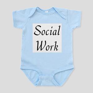 Social Work (black) Infant Bodysuit