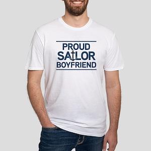 Proud Sailor Boyfriend Fitted T-Shirt