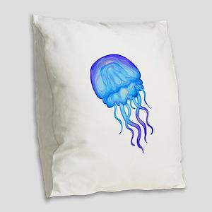 TENTACLES Burlap Throw Pillow