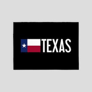 Texas: Texan Flag & Texas 5'x7'Area Rug