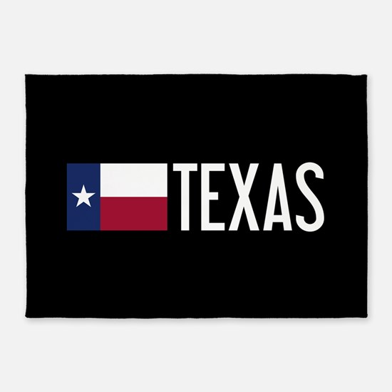 Texas: Texan Flag & Texas 5'x7'Area Rug