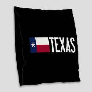 Texas: Texan Flag & Texas Burlap Throw Pillow