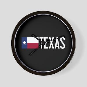 Texas: Texan Flag & Texas Wall Clock