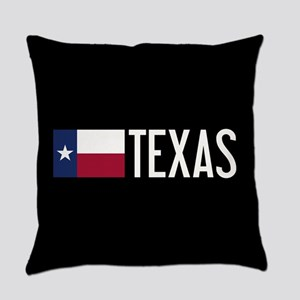 Texas: Texan Flag & Texas Everyday Pillow
