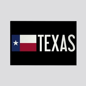 Texas: Texan Flag & Texas Rectangle Magnet