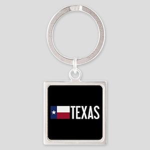 Texas: Texan Flag & Texas Square Keychain