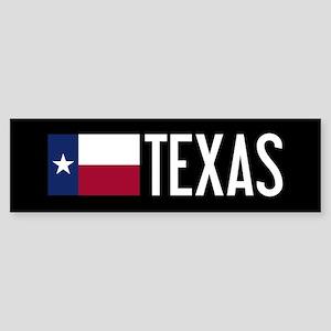 Texas: Texan Flag & Texas Sticker (Bumper)