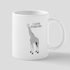 I Love Giraffes Mugs