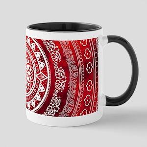 'Scarlet Destiny' Red & White Flower Of Life Mugs