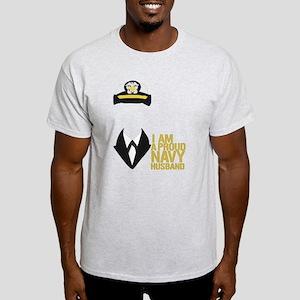 Proud Navy Husband Light T-Shirt